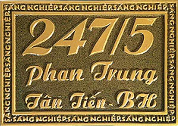 Bảng số nhà nhôm đúc 006