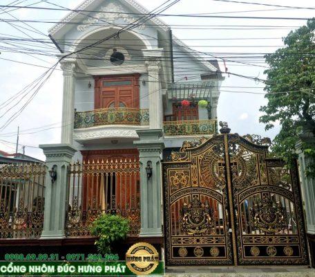 cổng nhôm biệt thự đẹp